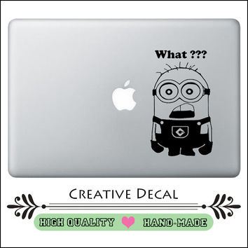 """Humor Minions Laptop Decal Vinyl for Macbook Pro Air Retina 11"""" 12"""" 13"""" 15 """"  Mac Skin 15.6 HP Dell Tablet PC Notebook Sticker"""