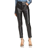 AQUA Faux Leather Skinny Pants - 100% Exclusive.