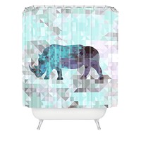 Deniz Ercelebi Rhino 2 Shower Curtain