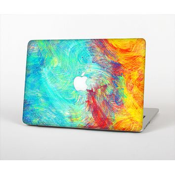 The Vibrant Colored Messy Painted Canvas Skin Set for the Apple MacBook Pro 13""