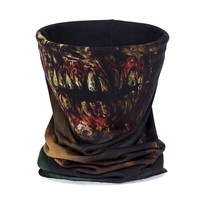 3D Zombie Face Multi Scarf Riding Seamless Headscarf For Men And Women Featured Bandana Headband