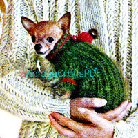 1960s Turtleneck Chihuahua Sweater Vintage Knitting Pattern INSTANT DOWNLOAD PDF Chihuahua Clothes Mod Dog Jacket Puppy Love Vintage Beso