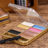 8 Color Sweatproof Makeup Women Natural Warm Eyeshadow+ Blush Palette Set with Brush + Mirror best Gift + Free Shipping