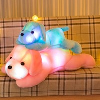 35/50cm Creative Light Pillow LED plush Dog Stuffed Toy with Light Dog Pillow Best Gift for girl Kids and Friends toys for child