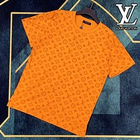 LV Louis Vuitton Fashionable Women Men Full Logo Short Sleeve T-Shirt Top Blouse