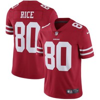 Men's San Francisco 49ers Jerry Rice Nike Scarlet Retired Player Vapor Untouchable Limited Throwback Jersey