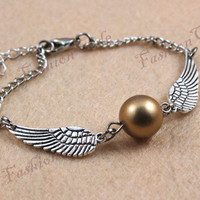 Harry potter Golden Snitch Bracelet In Silver by TheGiftoftheMagi