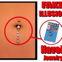 Bewild Illusion Fake Navel Jewelry (Assorted)