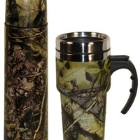 Subzero Travel Set 17oz Double Wall Flask and Travel Mug in Camo Print - Great Gift for Mom, Dad, or That Hunter in Your Life