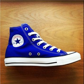 Converse All Star Sneakers High-Top Leisure shoes Adult Leisure shoes Sapphire blue