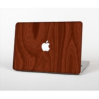"The Red Mahogany Wood Skin Set for the Apple MacBook Pro 13"" with Retina Display"