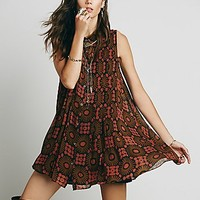 Free People Womens Catch the Sun Printed Dress