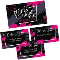 Girls Night Out Drinking Game Cards - 36 Funny & Naughty Drink If Cards for Birthday, Bachelorette & Adult Weekend Party