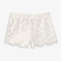 Scalloped Floral Shorts