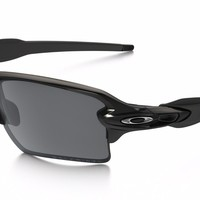 OAKLEY FLAK 2.0 XL BLACK IRIDIUM POLARIZED, POLISHED BLACK OO9188-08