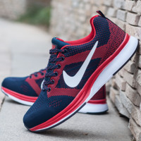 """NIKE"" Trending Fashion Casual Sports Shoes Dots Lace up Red"