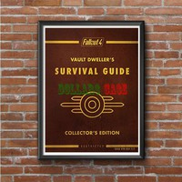 fallout 4 Survival Guide Collector's cover Photo Poster 16x20 18x24
