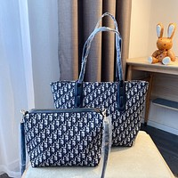 Dior new women's embroidered shopping bag mother bag two-piece set