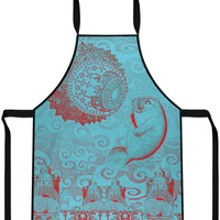 Moon and Manatee Cooking Apron