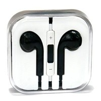 Zenotech Earpods High quality sound New Design Stereo Earphones Earbuds with Microphone for iPhone 6, 6 plus, 5,5s,5c iPads, iPods nano competible type 3 (Black)
