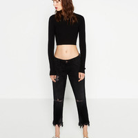 CROPPED MID - RISE JEANS-Skinny-JEANS-WOMAN-COLLECTION AW16 | ZARA United States