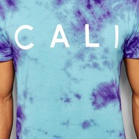 New Look Tie Dye T -Shirt with Cali Print