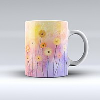 The Drizzle Watercolor Flowers V2 ink-Fuzed Ceramic Coffee Mug