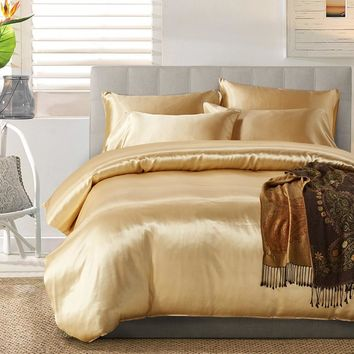 Cilected Colorful 3Pcs Bedding Set Microfiber Sanding Printing Duvet Cover Set Queen/King Size With Pillowcases Bedclothes