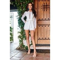 Can't Be Beat Romper (White)