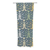 KESS InHouse My Leaves on Blue Curtain Panels & Reviews | Wayfair
