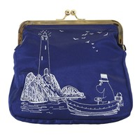 Large embroidered Moomin clutch bag by Ivana Helsinki