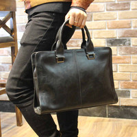 Mens Leather Crossbody Shoulder Bag Handbag