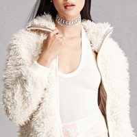 Angie Faux Fur Bomber Jacket