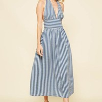 Jane Stripe Midi Dress