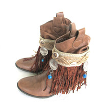 Fringe Boot cuffs, Gypsy Boot Wrap, Boho Boot Accessories, Ankle cuff, Boot bracelet, Boot accessories, Fashion Boot Bling.