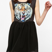 Urban Outfitters - Reverse Tiger Head Skater Dress