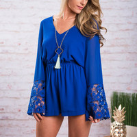 Grace And Lace Romper, Royal