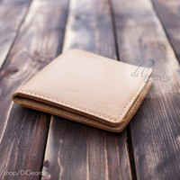 Coin pocket wallet man slim wallet natural genuine leather wallet card holder credit card wallet billfold wallet minimal wallet travel gift