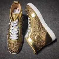 DCCK2 Cl Christian Louboutin Rythinestone Style #1924 Sneakers Fashion Shoes