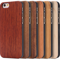 i6 6S Plus Luxury Handmade Wood Case For Apple iPhone 6 6S/6 6S Plus Stylish Genuine Rosewood Bamboo Wooden Cover Carving Design