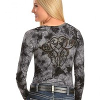 Ariat Rae Tie Dyed Studded Embroidery Tee - Sheplers