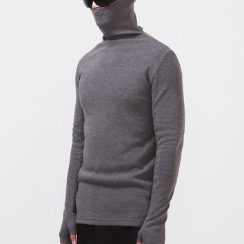 Mens Ninja Turtle neck Extended Long Shirt with Arm Warmer at Fabrixquare