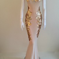 Goddess Isis Gown, Goddess Isis dress can also be ordered in Pencil Knee Length for $475.00, please contact us for ordering at fenty@fentybparker.com
