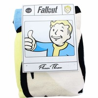 """Fallout Vault Boy Thumbs Up 45""""x 60"""" Super Soft Throw Blanket Gamer Gaming"""