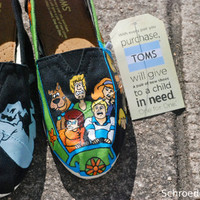Custom Painted Toms Shoes by SchroedersShoes on Etsy