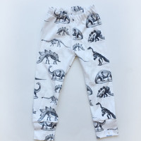 Dino baby organic knit leggings