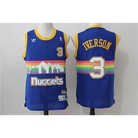Denver Nuggets 3 Allen Iverson Retro Basketball Swingman Jersey