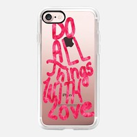 Do All Things with Love (valentines) iPhone 7 Case by Vasare Nar | Casetify