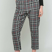 Urban Renewal Vintage Remnants Grey Plaid Trousers - Urban Outfitters