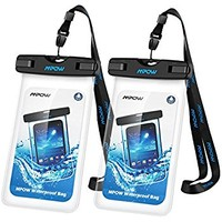 """(2Pack) Universal Waterproof Case, Trianium [TETHYS 8 Series] Cellphone Dry Bag Pouch for iPhone 7 6s 6 Plus, SE 5s 5c 5, Galaxy s8 s7 s6 edge, Note 5 4,LG G6 G5,HTC 10,Sony Nokia up to 6.0"""" diagonal"""